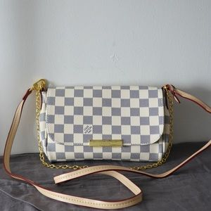 Louis Vuitton 8 x 5 x 1.5 damier azur
